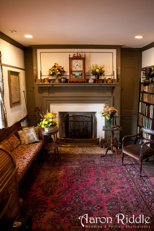 East parlor of the inn showing antiques